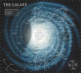 The map of the whole galaxy as a reference point