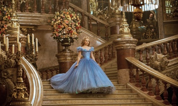Lily James as Cinderella in Disney's live-action remake of the animated fairytale