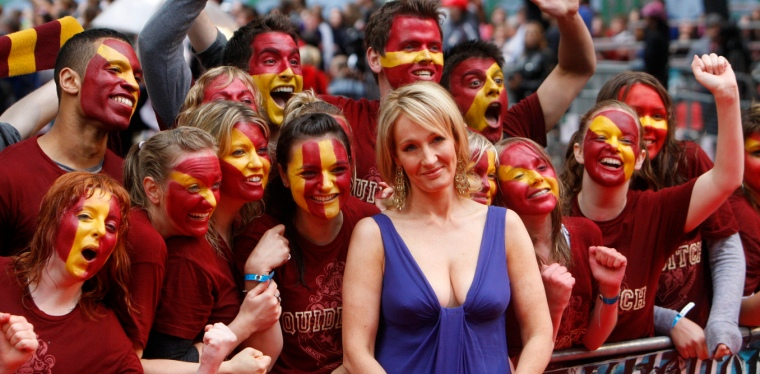 "J.K. Rowling arrives for the world premiere of ""Harry Potter and the Half Blood Prince"" at Leicester Square in London"